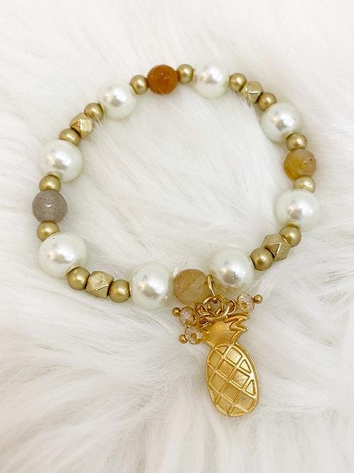 Pulsera piña dorada