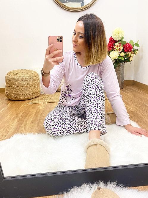 Pijama jirafa lila
