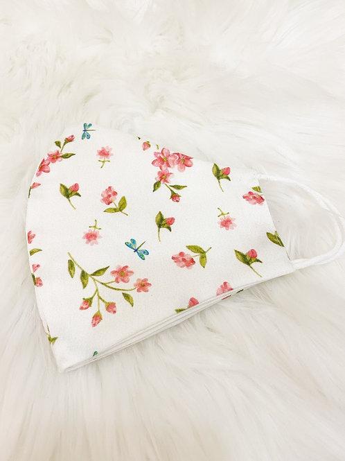 Mascarilla flor rosa