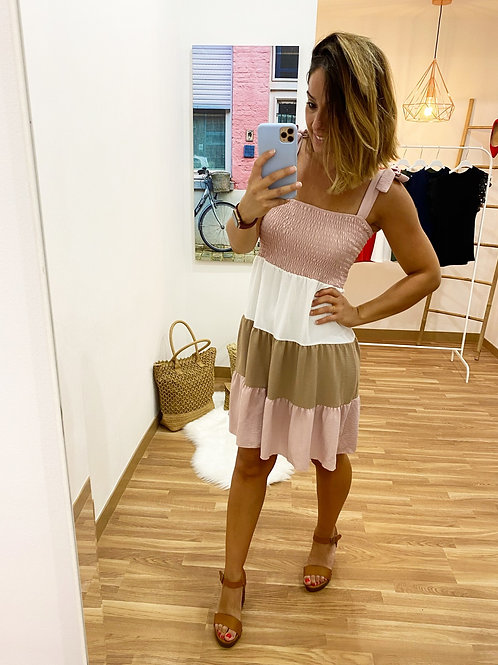 Vestido Felisa Rosa