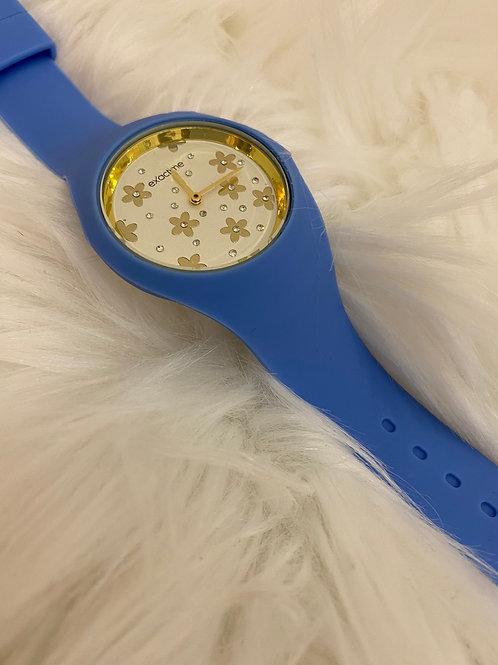 Reloj margaritas azul