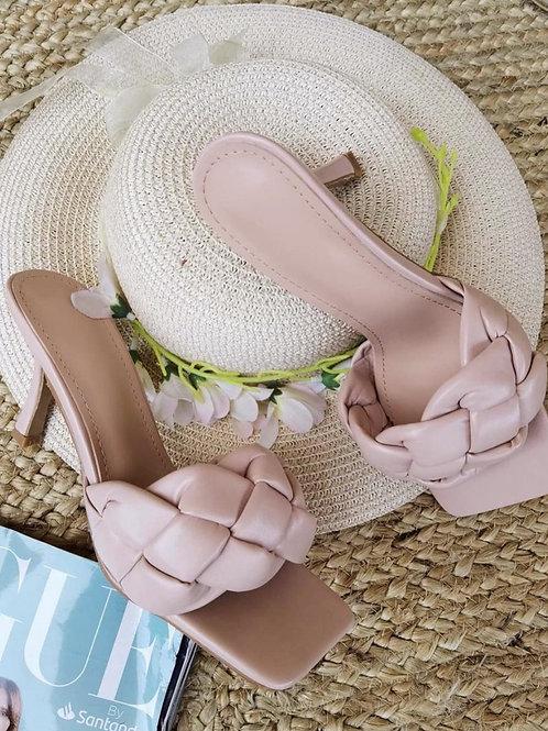Sandalia trenzado nude