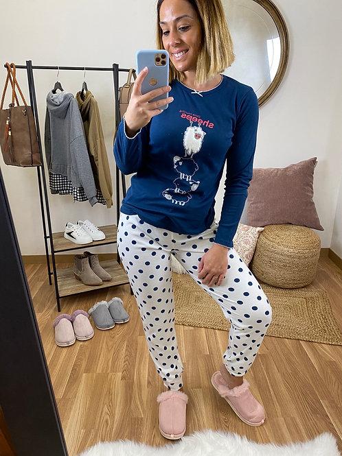 Pijama ovejitas marino