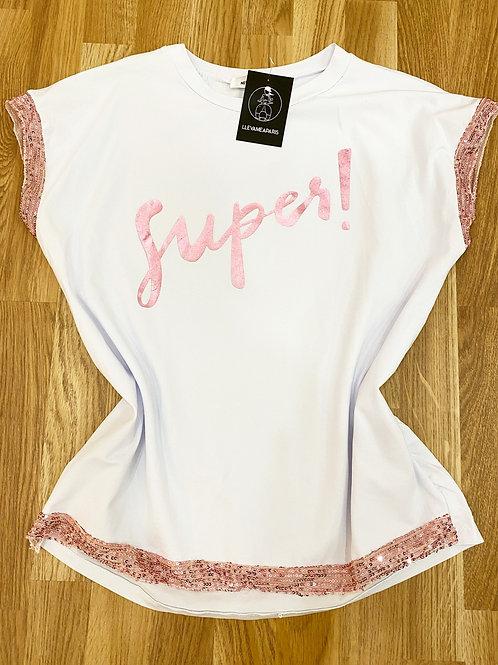 Camiseta súper Rosa