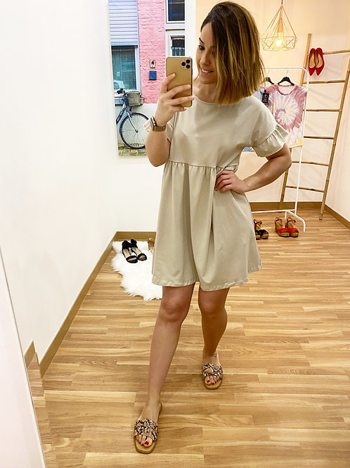 Vestido marina beige