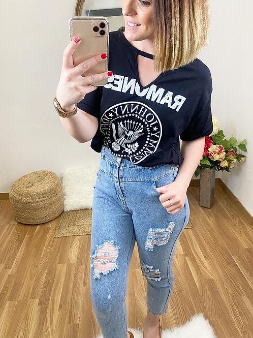 Camiseta Ramones negra