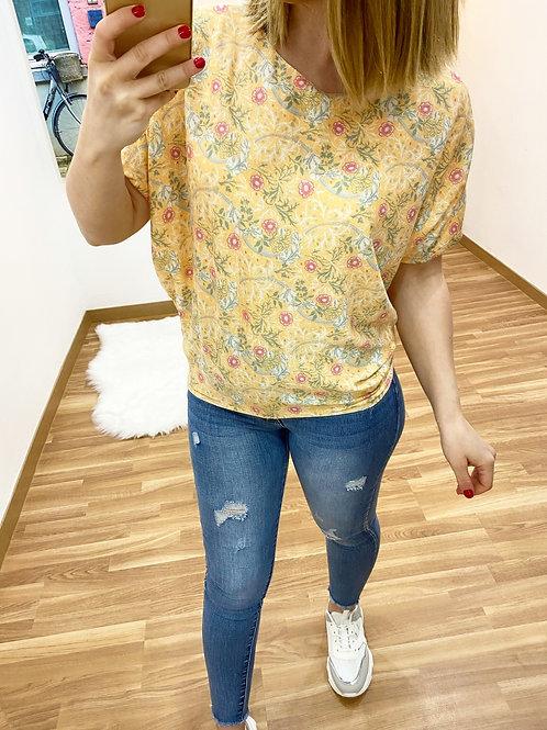 Suéter jardín amarillo
