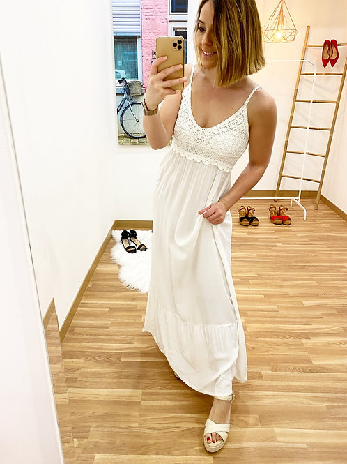 Vestido Jazmín blanco