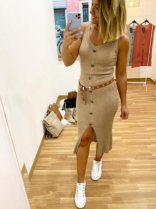 Vestido Grecia beige