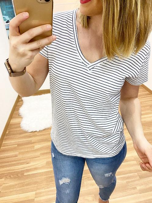 Camiseta rayas blanca