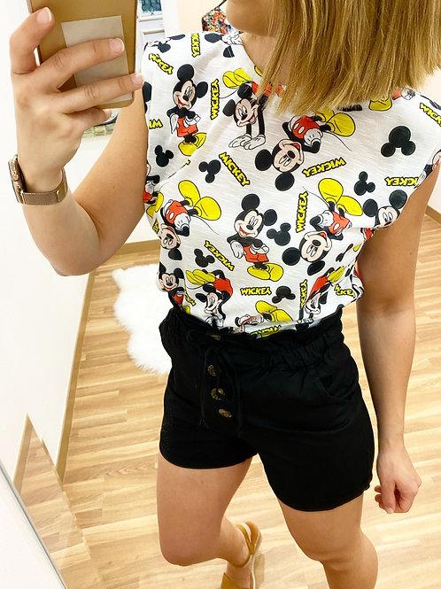 Camiseta Mickey hombreras