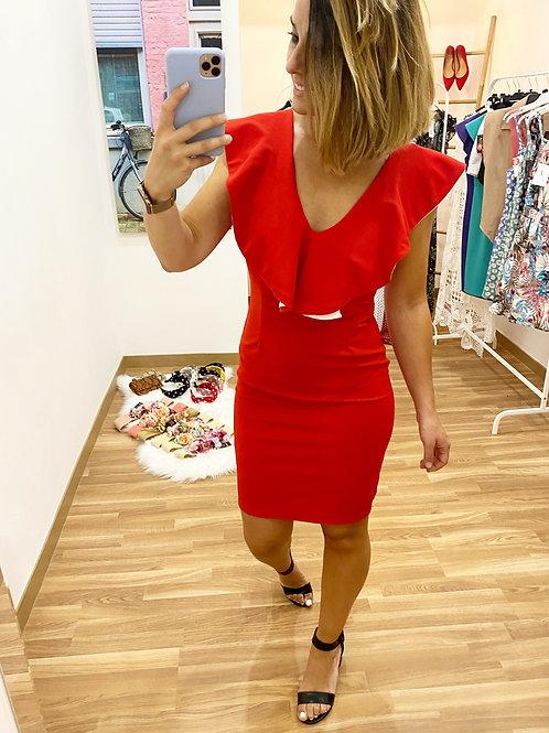 Vestido gala rojo