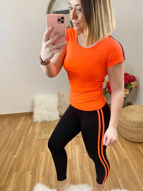 Conjunto Running Irina naranja
