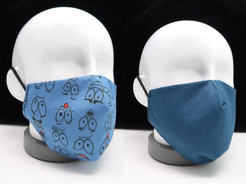 Mascarilla azul jean caritas
