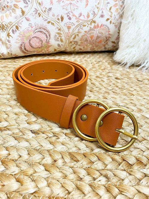 Cinturón circulos camel