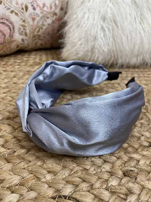 Diadema raso gris