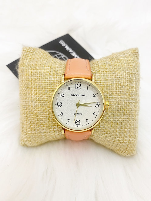Reloj clasico salmon