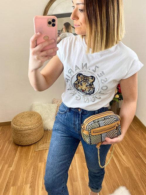 Camiseta Tiger blanca