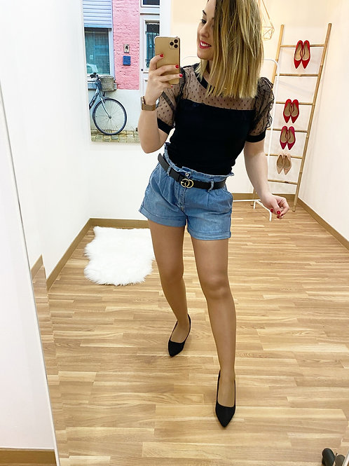 Camiseta Sofía negra