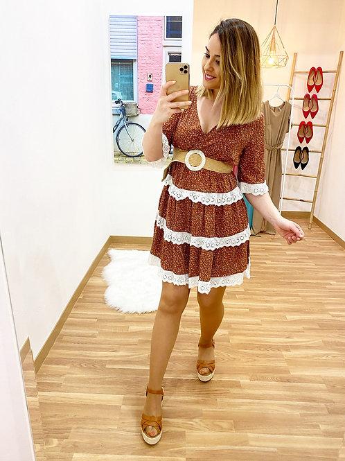 Vestido La Toscana marrón