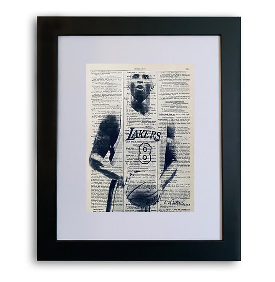 Vintage Kobe Bryant - THE BLACK MAMBA