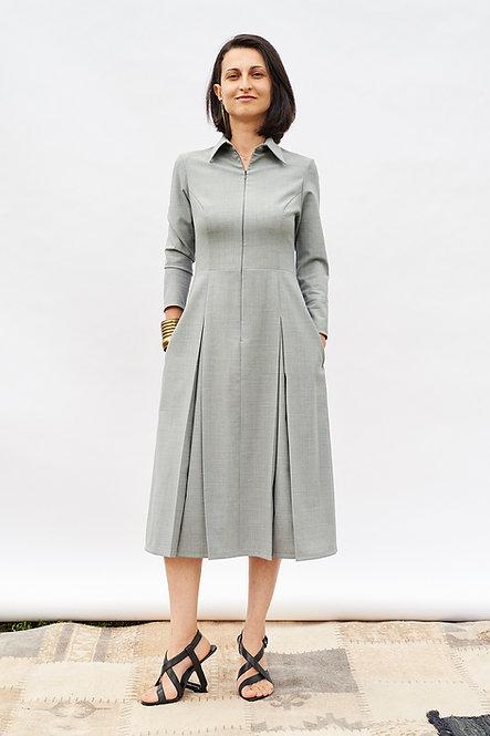 | FREYA | quintessential dress | pastel grey