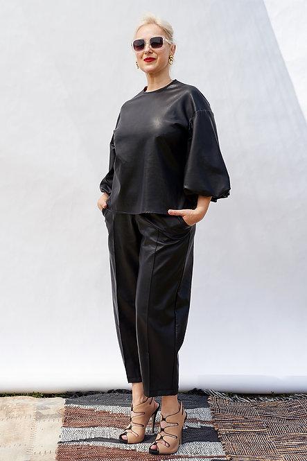   DIEGA   finesse blouse   premium vegan leather