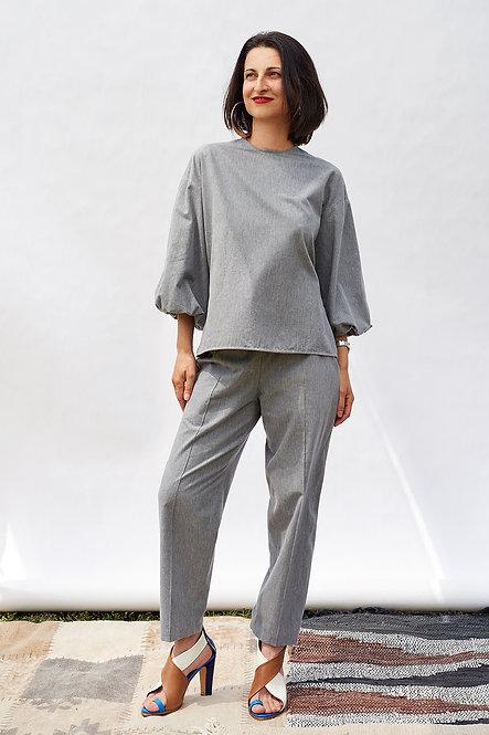 | DIEGA |  finesse blouse | steel grey