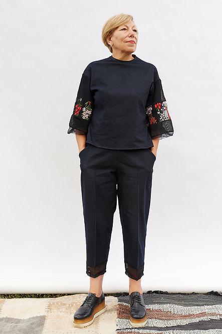 | DIEGA |  finesse blouse | ornamental blossoms