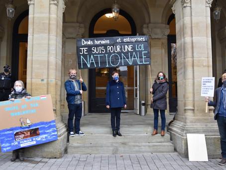 """""""Entreprises et droits humains: je suis pour une loi nationale"""""""