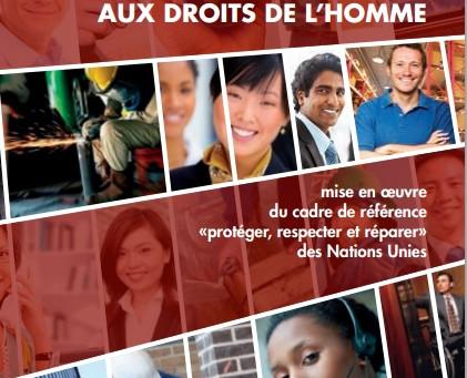 Plan d'action national sur les entreprises et les droits humains: propositions de l'Initiative