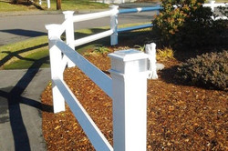 Post & Rail Fence w/ solar cap