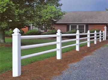 Post & 3 Rail Fence