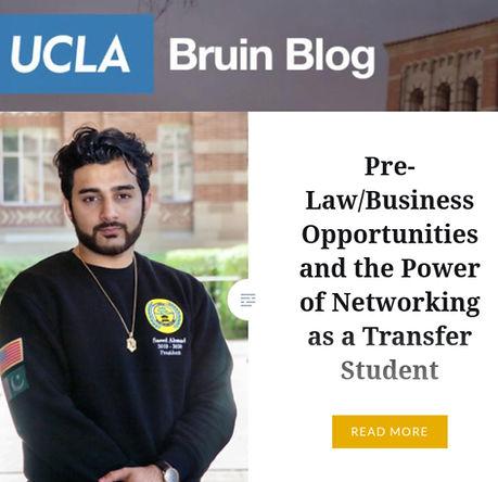 Saeed Ahmad UCLA Admissions Piece