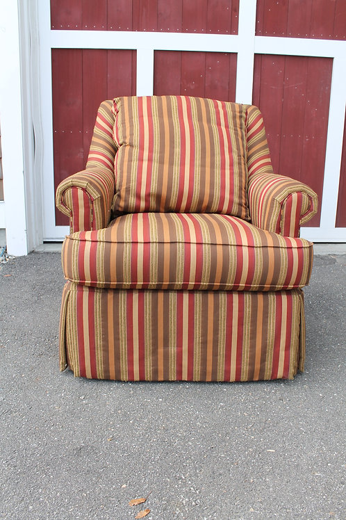 Century Striped Swivel Chair