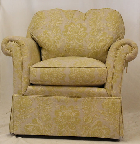 Yellow Floral Chair