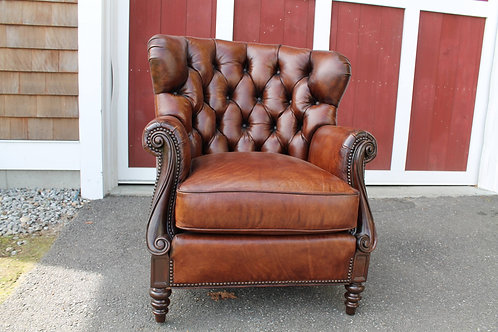 Whittemore Sherrill Leather Wing Chair