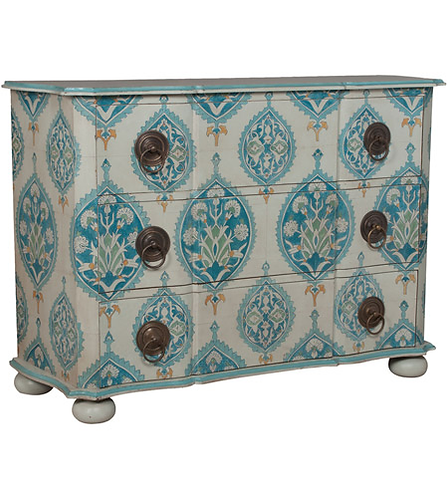 Duchess Hand-Painted Chest in Blue Floral