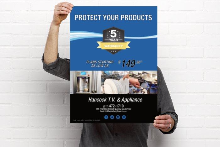 Hancock T.V. & Appliance Poster