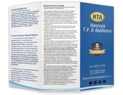 Hancock T.V. & Appliance Brochure
