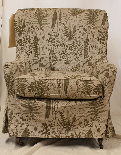Green Fern Accent Chair