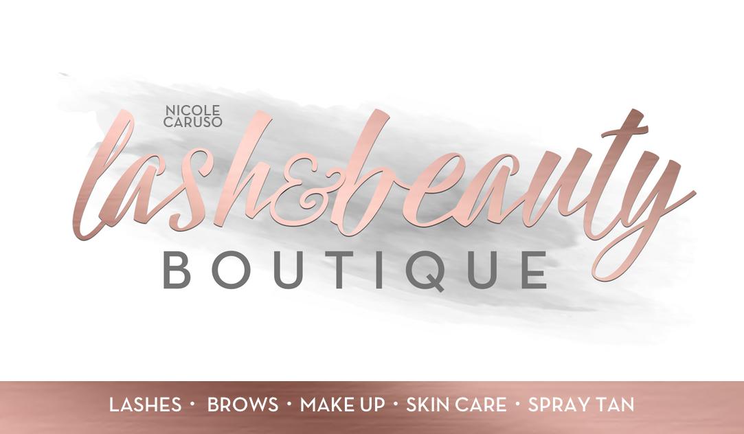 Lash & Beauty Boutique Business Card
