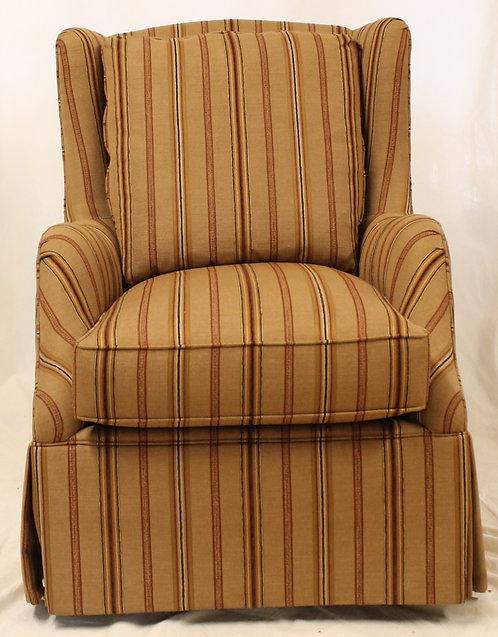 Brown Striped Swivel Chair