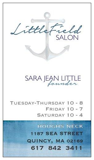 LittleField Salon Business Card
