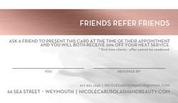 Lash & Beauty Boutique Referral Card