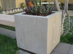 Planter Pot, Wooden Finish
