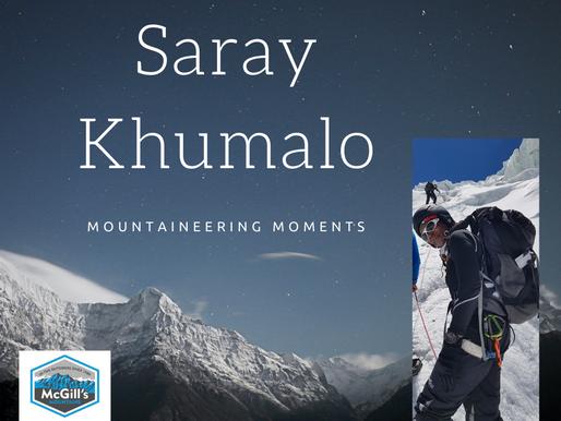 Mountaineering Moments #11 . . . Saray Khumalo