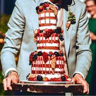 3 Etagen Naked Cake Hochzeitstorte