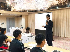 プロ野球選手会主催キャリア研修会の講師を務め、計5球団の若手選手に講演させて頂きました。