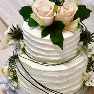 2 Etagen Hochzeitstorte klassisch